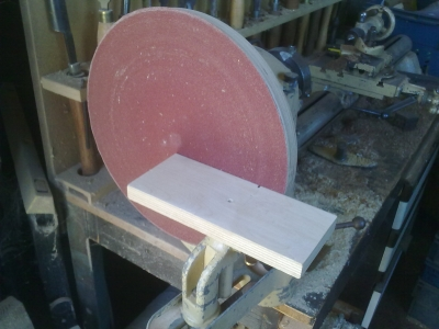 Hook and Loop sanding disc fitted and ready for use