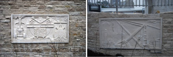 The Tesco Friezes depict the history, culture and work of the people on the Isle of Portland.